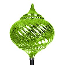 Solar Medium Onion Finial Garden Stake