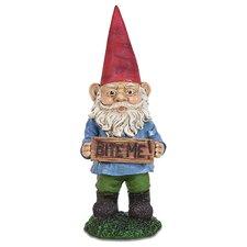 Bite Me Attitude Gnome Statue