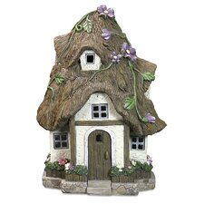 Solar Cottage Straw Roof Statue