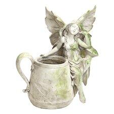 Standing Beside Fairy Pot Statue