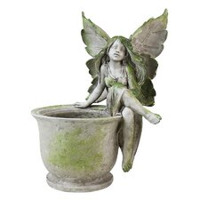 Sitting on Pot Fairy Statue