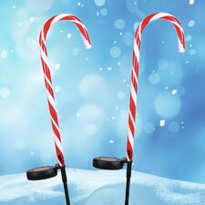 Solar Candy Cane Stake