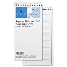 Sparco Reporter's Notebook, White, Dozen