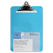 "Transparent Plastic Clipboard, 9""x12-1/2"""