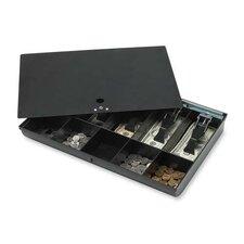 """Money Tray, w/ Locking Cover, 16""""x11""""x2-1/4"""", Black"""