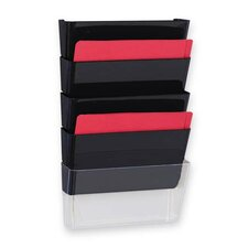 Vertical File System, 3/PK, Clear
