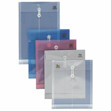 """String Poly Envelope, Letter, Top Opening, 1"""" Expansion, Clear"""