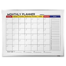 Dry-Erase Calendar/Planner Wall Mounted Whiteboard
