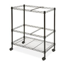 Two Tier Mobile Filing Cart