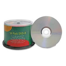 Compucessory Branded 16X DVD-R Discs, Silver