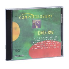 Compucessory Branded DVD-RW Disc, Silver