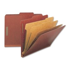 Classification Folders, Letter, 3 Partitions, 10/BX, Red