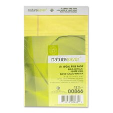 Recycled Legal Ruled Pads, Junior Legal, Canary/White, 50 Sheets, 12-Pack