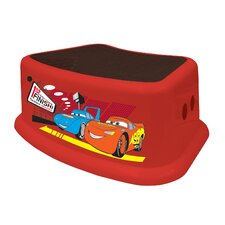 1-Step Plastic Disney Cars Step Stool with 200 lb. Load Capacity
