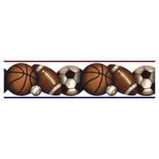 "Studio Designs Play Ball Peel and Stick 15' x 27"" Border Wallpaper"