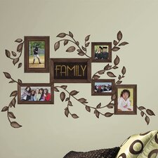 Deco 50 Piece Family Frames Wall Decal