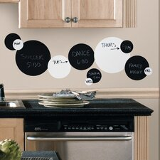 Room Mates Deco 31 Piece Dots Chalkboard Wall Decal