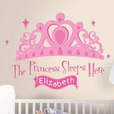 131 Piece Princess Sleeps Here Giant Wall Decal