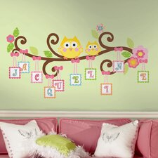 Giant Happi Scroll Tree Letter Branch Wall Decal Set