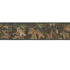 "Studio Designs Mossy Oak Camo Peel and Stick 15' x 5"" Floral and Botanical Border Wallpaper"