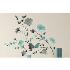 Blossom Watercolor Bird Branch Peel & Stick Wall Decal