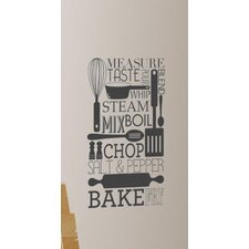 Deco Cooking Conversions Wall Decal