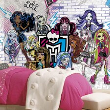 Prepasted Monsters High XL Wall Mural