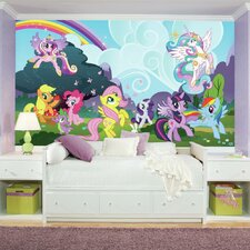 Prepasted My Little Pony Ponyville XL Ultra-strippable Wall mural