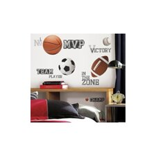 Studio Designs All Star Sports Saying Wall Decal