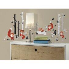 Fox Forest 60 Piece Wall Decal