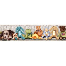 "Studio Designs Cuddle Buddies Peel and Stick 15' x 5"" Border Wallpaper"