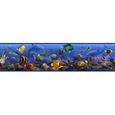 "Studio Designs Under the Sea 15' x 9"" Fish Border Wallpaper"