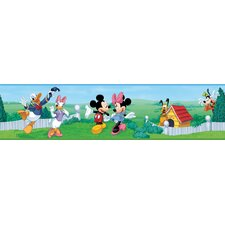 """Mickey and Friends 15' x 5"""" Border Wallpaper"""