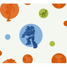 """Room Mates Deco Toy Story Circles and Silhouettes 9' x 1.5"""" Border Wallpaper"""