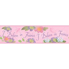 """Room Mates Deco Believe In Fairies 9' x 1.5"""" Floral and botanical Border Wallpaper"""