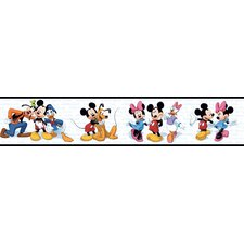"Room Mates Deco Mickey and Friends 9' x 1.5"" Border Wallpaper"
