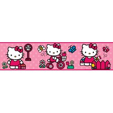 """The World of Hello Kitty Peel and Stick 9' x 1.5"""" Border Wallpaper"""