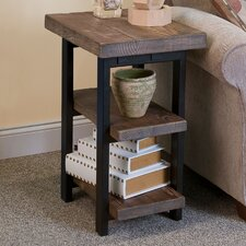 Pomona 2-Shelf Reclaimed Wood/Metal End Table