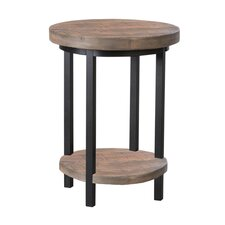 "Pomona 20"" Round Reclaimed Wood/Metal Coffee Table"