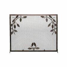 Weston Leaf Wrought Iron Fireplace Screen