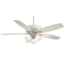 Classica 5 Blade Gallery Edition Provencal Blanc Ceiling Fan with Handheld Remote