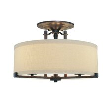 Ansmith 3 Light Semi Flush Mount
