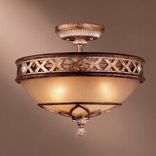 Aston Court 3 Light Semi Flush Mount