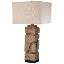 "Straight Lines 1 Light 31"" H Table Lamp with Square Shade"
