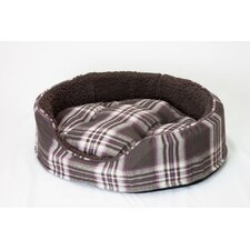 Snuggle Terry and Plaid Pet Bed
