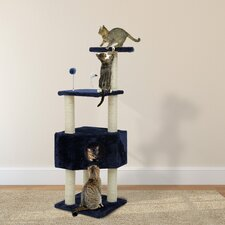"47"" Tiger Tough Clubhouse Playground Cat Tree"