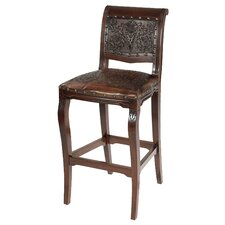 "Colonial 30"" Bar Stool with Cushion (Set of 4)"