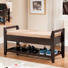 Wooden Storage Entryway Bench