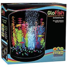 GloFish 3 Gallon Half Moon Bubbler Aquarium Kit