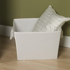 "Storage and Organization 11"" Medium Tapered Bin with Cloth Handles"